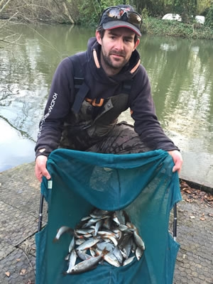 Kitch with his excellent bag of roach and skimmers