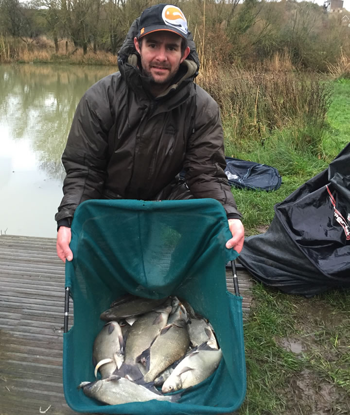 Kitch with his siver fish bag