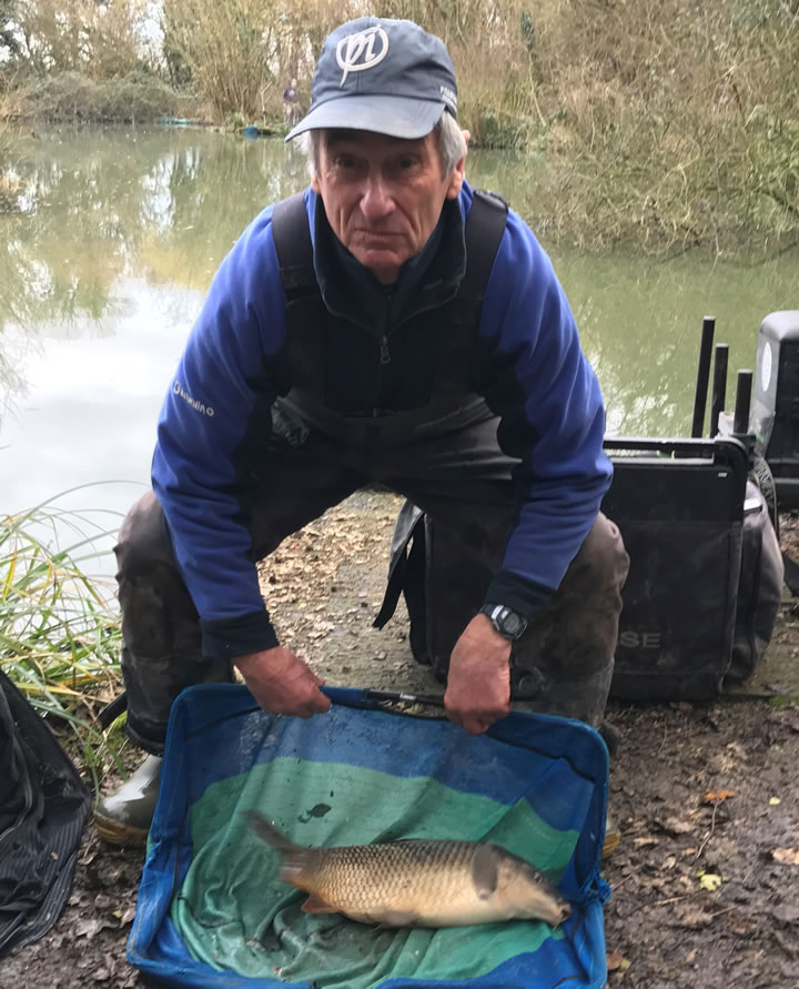 Glen with a carp from Cart Pond