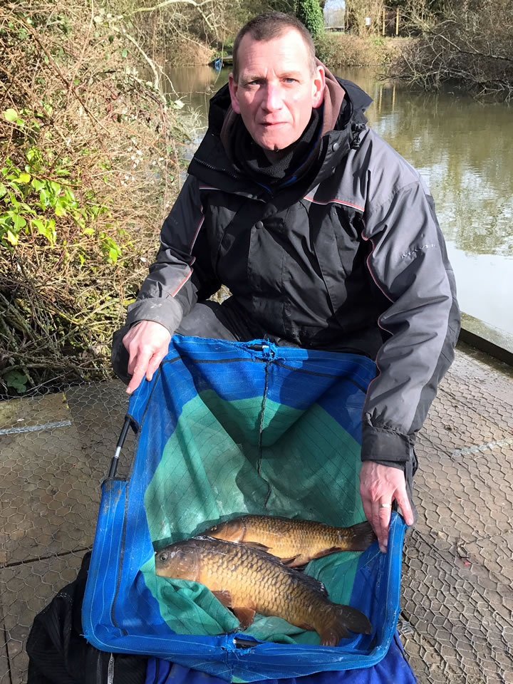 Keith came second with these carp