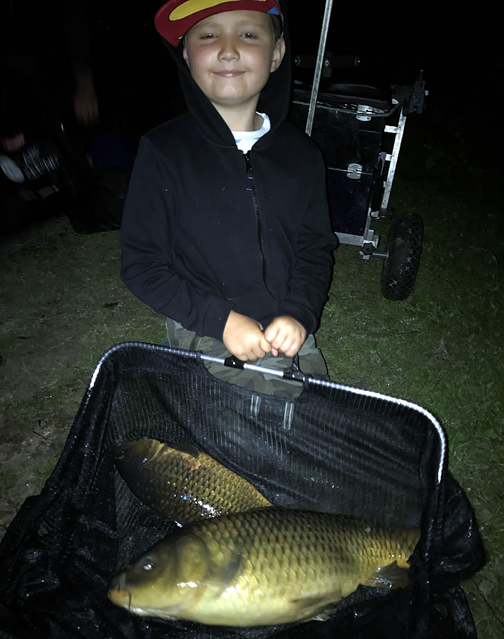 Cody with his second place Carp bag