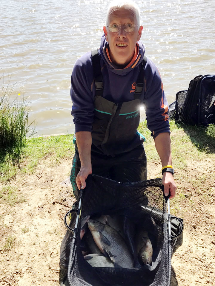 Mick with his winning bag of Bream