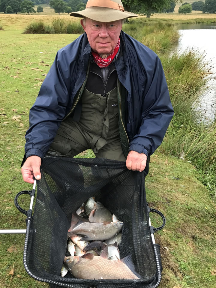Third place Ray with his four Bream