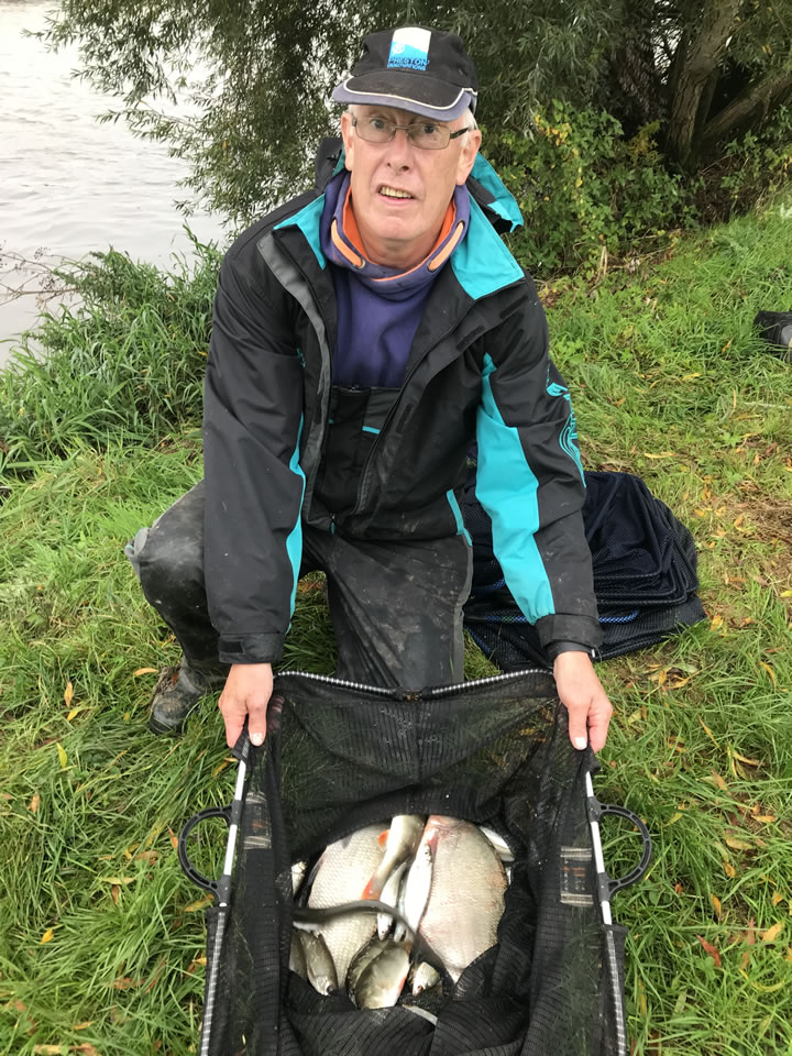 Runner up Mick with his catch