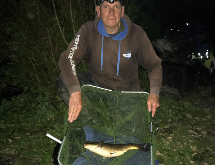 Runner up Keith with his carp
